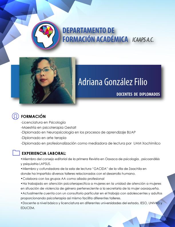 Mtra. Adriana gonzalez